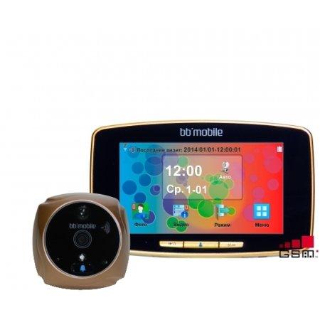Дверной видео bb-mobile ПРОГлазОК с GSM Золотой