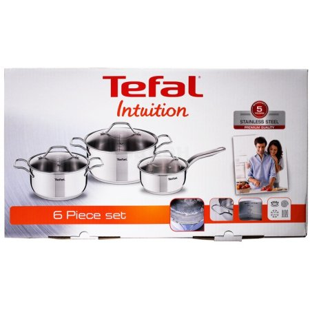 Tefal Intuition A702S674 Серебристый, Ковш, Кастрюля