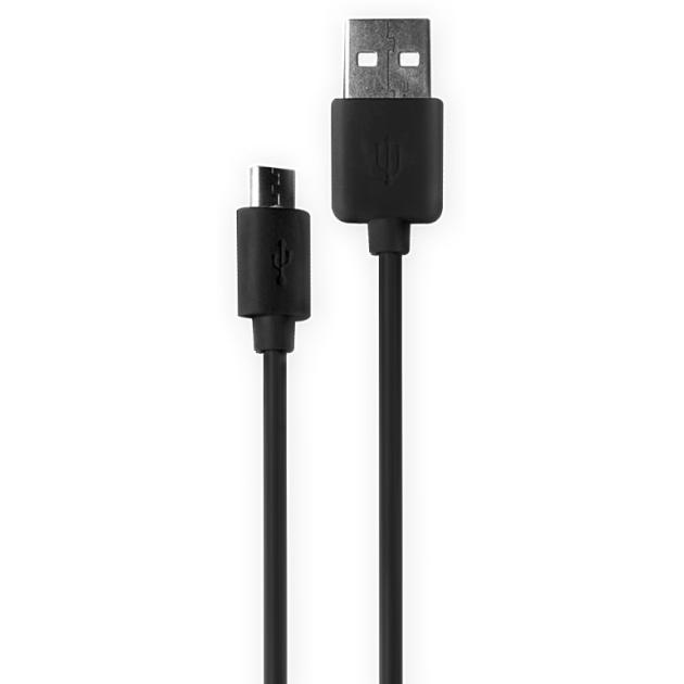 Olmio microUSB, 1м 1м, Микро-USB, USB, Черный