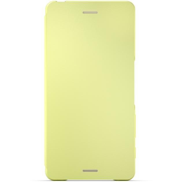 Sony Чехол Style Cover Flip SCR54 для Xperia XA Золотой лайм