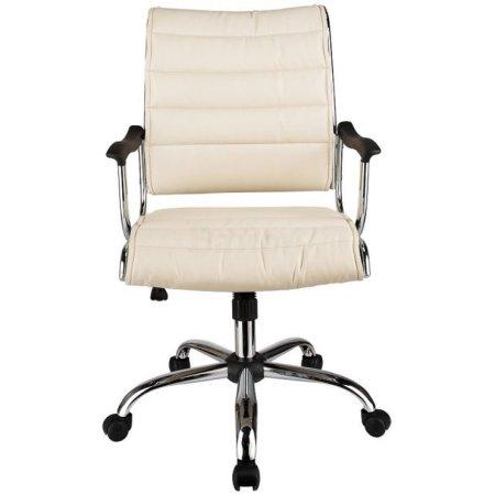 Кресло руководителя Бюрократ CH-994AXSN/Ivory низкая спинка слоновая кость искусственная кожа крестовина хромированная