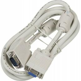 Кабель-удлинитель SVGA Ningbo CAB015S-06F VGA HD15 m/VGA HD15 f 1.8м феррит.кольца
