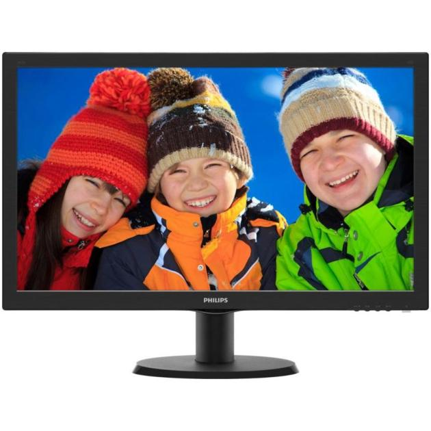 "Philips 243V5QHABA 23.6"", Черный, DVI, HDMI"