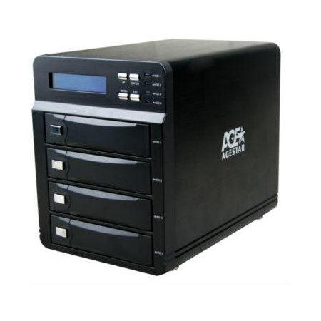 """Внешний корпус для HDD AgeStar 3C4B3A SATA II алюминий черный LCD 3.5"""""""