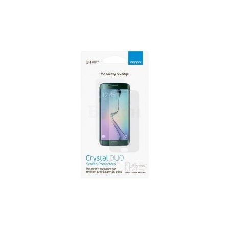 Защитная пленка Deppa для Samsung Galaxy S6 Edge SM-G925, прозрачная, 2шт. Защитная