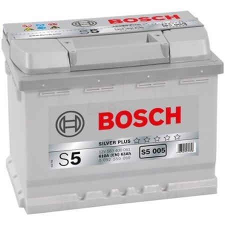 Аккумулятор BOSCH S5 005 Silver Plus 563 400 061, 63е Ач