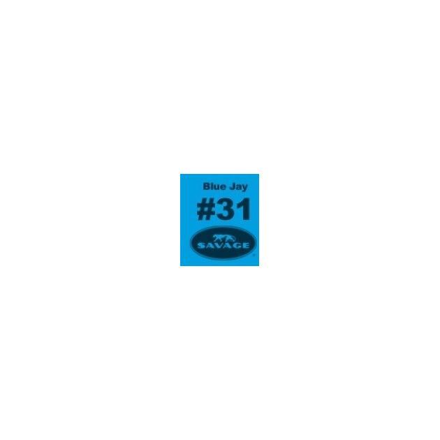 "Фон бумажный Savage 31-1253 WIDETONE BLUE JAY цвет ""Голубая Сойка"" RGB 33-156-215, 1,35 х 11 метров"