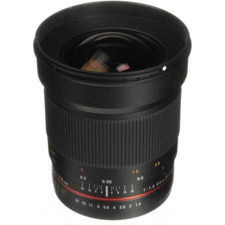 Samyang 24mm f/1.4 ED AS UMC AE Широкоугольный, Nikon F, Совместимость с полнокадровыми фотоаппаратами