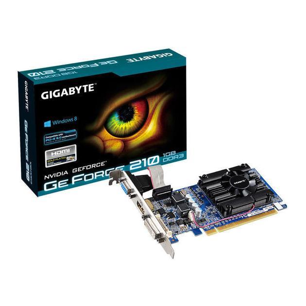 GigaByte GeForce 200 Series GeForce 210-1024Мб, GDDR3, 590MHz, GV-N210D3-1GL