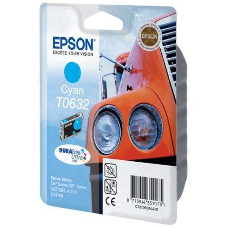 Epson T0632 Голубой, Картридж струйный, Стандартная, нет