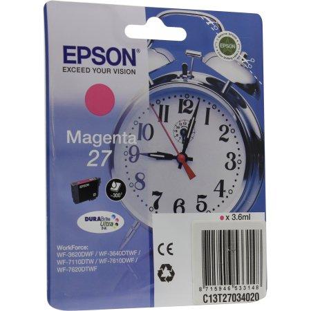 Epson C13T27034020 Пурпурный, Картридж струйный, Стандартная, нет