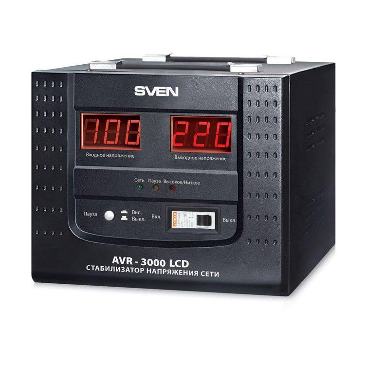 Sven AVR-3000 LCD однофазный, 3000ВА, поврежденная упаковка!