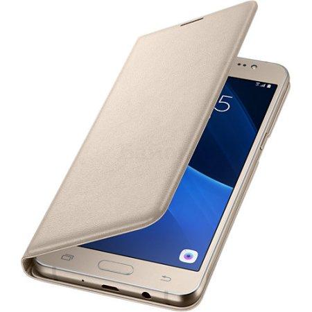 Samsung Flip Wallet для Galaxy J5 чехол-книжка, полиуретан, Золотой