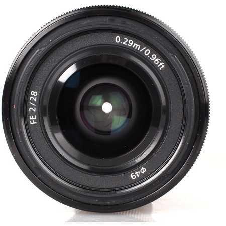 Sony FE 28mm f/2 Широкоугольный, Sony E, Совместимость с полнокадровыми фотоаппаратами