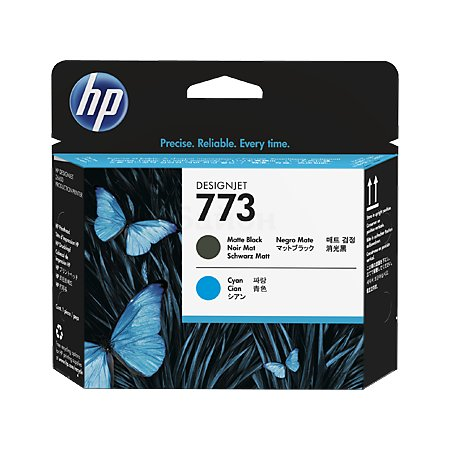 HP Inc. Печатающая головка HP 773 матовая черная и голубая для HP DJ Z6600/Z6800