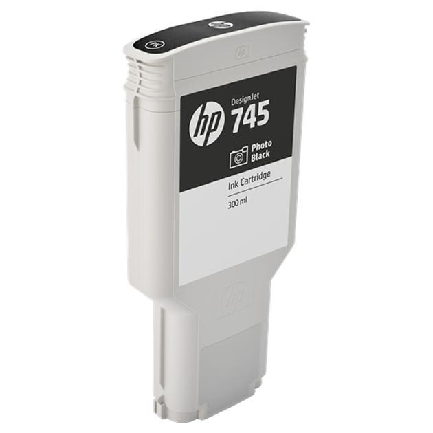 HP 745 Черный для фотопечати, Картридж струйный, Повышенная, нет