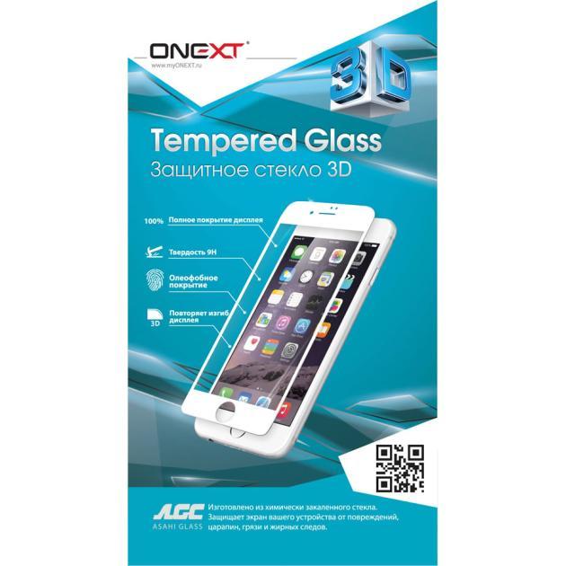 Защитное стекло ONEXT для Apple iPhone 6/6S, 3D, черный Прозрачная от Байон