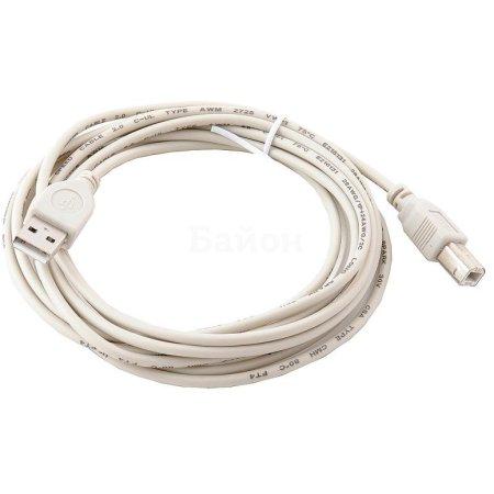 Gembird USB 2.0 Am-Bm 3.0m 3м, USB-A, USB-B, Белый