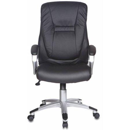 Кресло руководителя Бюрократ CH-875S/Black черный искусственная кожа пластик серебро