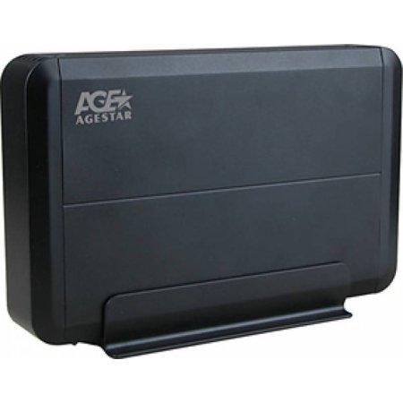 "Внешний корпус для HDD AgeStar 3UB3O8 SATA пластик/алюминий черный 3.5"""