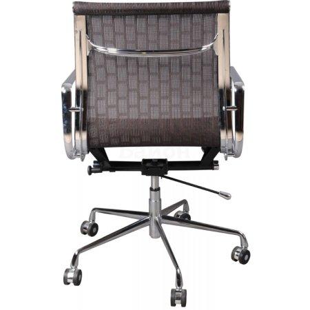 Кресло руководителя Бюрократ CH-996-Low/007 низкая спинка коричневый сетка крестовина хромированная