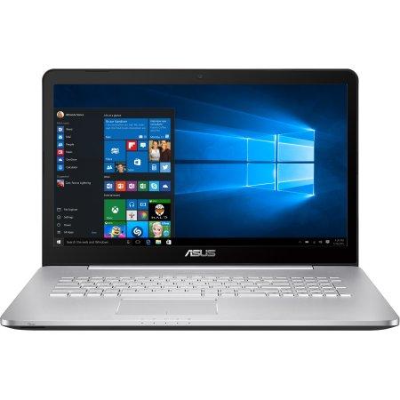 "Asus N752VX 17.3"", Intel Core i7, 2600МГц, 8Гб RAM, DVD-RW, 1Тб, Серебристый, Wi-Fi, Windows 10"