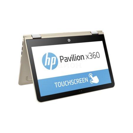 "HP Pavilion x360 13.3"", Intel Core i3, 2.3МГц, 4Гб RAM, DVD нет, 1Тб, Золотой, Wi-Fi, Windows 10, Bluetooth"