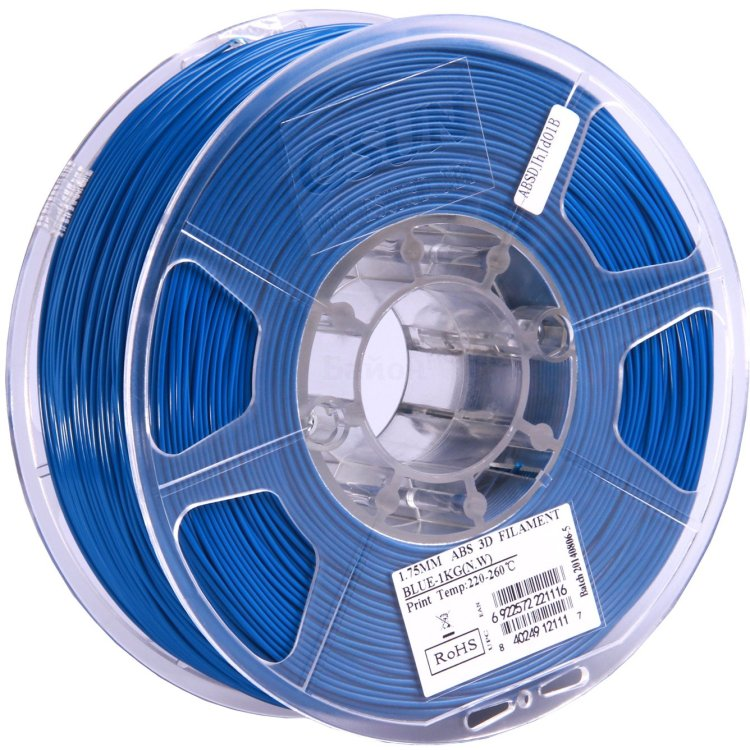 ESUN ABS175U1 Синий, Картридж ABS в катушке, Стандартная, нет