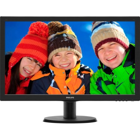 """Philips 243V5LSB 23.6"""", Черный, DVI, Full HD 23.6"""", Черный, DVI, Full HD"""