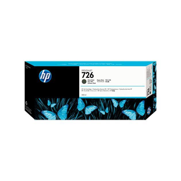 HP Inc. Cartridge HP 726 емкостью 300 мл для для Designjet  T1200, матовый черный