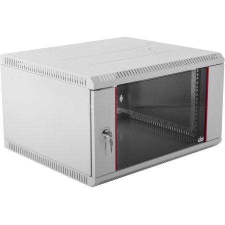 ЦМО Шкаф телекоммуникационный настенный разборный 6U (600х520) дверь стекло, [ ШРН-Э-6.500 ]