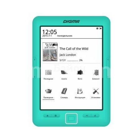 "Электронная книга Digma R67M 6 E-Ink, Лайм, 6"", Сенсорный экран, Встроенная подсветка E-Ink, Лайм, 6"", Сенсорный экран, Встроенная подсветка"