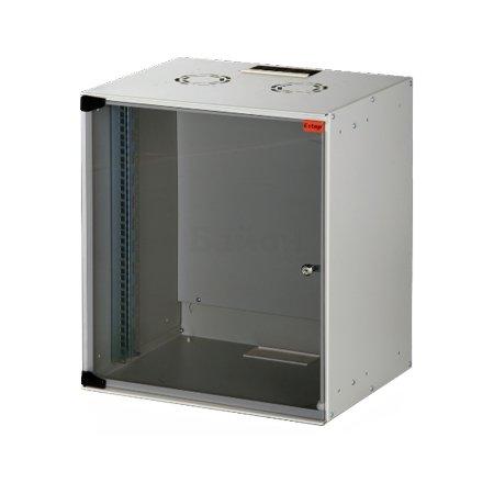 """Шкаф настенный SOHOline 19"""" 12U 520x400 стеклянная дверь, цвет серый"""
