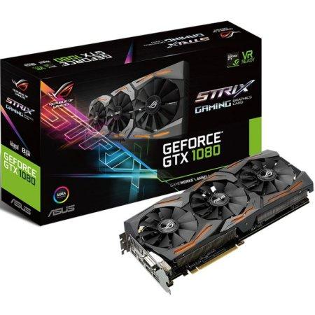 Asus NVIDIA GeForce GTX 1080 STRIX GAMING 8192Мб, GDDR5,1607MHz, STRIX-GTX1080-8G-GAMING