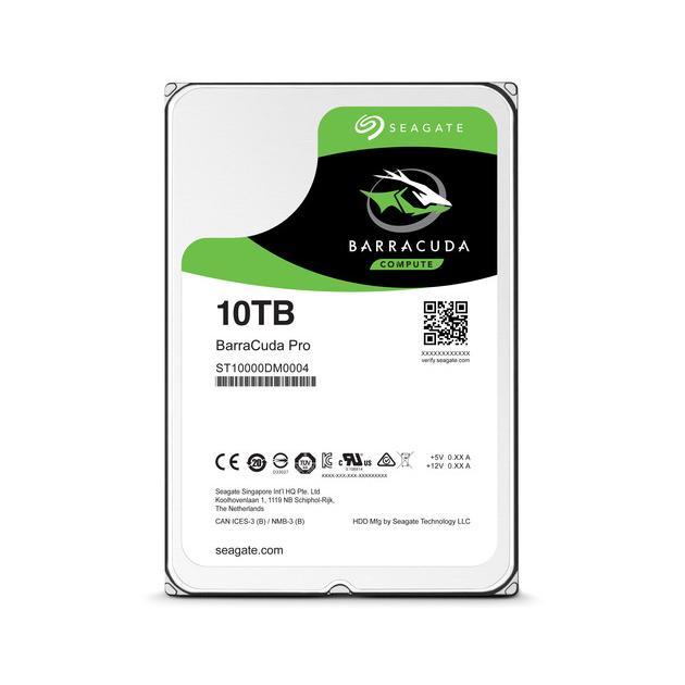 """Seagate 10TB BarraCuda Pro 10000Гб, 3.5"""" HDD"""