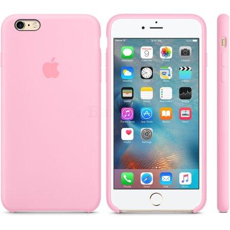 Apple Silicone Case MM6D2ZM/A для iPhone 6 Plus/6s Plus задняя крышка, силикон, Розовый