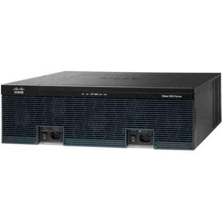 Cisco 3945 Voice Bundle, PVDM3-64 Черный, 1000Мбит/с, 5, 2.4