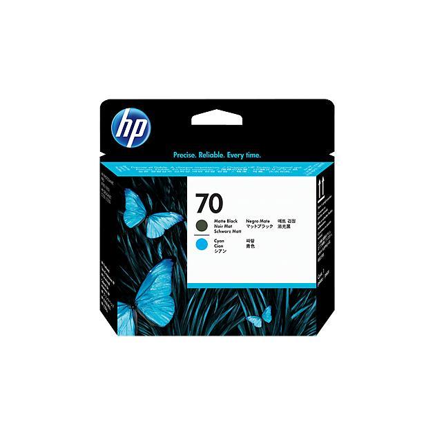 HP 70 Печатающие головка, Матово-черный, Синий
