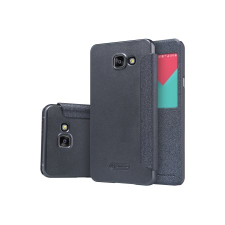 Nillkin Sparkle Leather Case для Samsung Galaxy A710 чехол-книжка, кожа, Черный