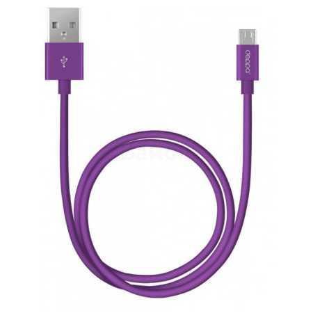 Deppa USB-microUSB 1.2м, Микро-USB, USB, Фиолетовый