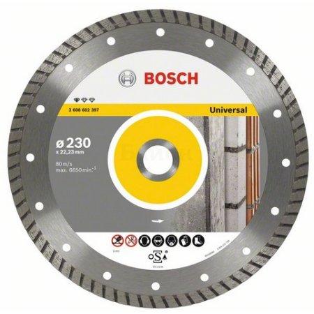Алмазный диск универсальный Bosch Standard for Universal Turbo (2608602394) d=125мм d(посад.)=22.23мм (угловые шлифмашины)