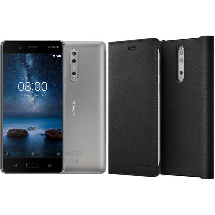 Nokia 8 + Подарок чехол Nokia 8 Leather Flip Cover