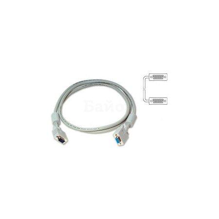Кабель Buro VGA-15M/Mpro соед. SVGA 15m/m для LCD мониторов 2 фильтра 1.8м