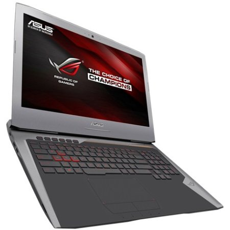 "Asus ROG G752VT 17.3"", Intel Core i7, 2600МГц, 8Гб RAM, DVD-RW, 1Тб, Серый, Wi-Fi, Windows 10, Bluetooth"