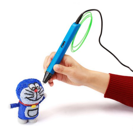 3D Pen MyRiwell RP800A  FDM/FFF, PLA/ABS, 0.6mm, 130-240C, USB/100-240V,5V, 2A, 40gr, OLED Display Blue