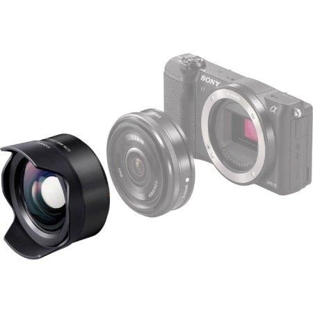 Sony VCL-ECU2 Широкоугольный, Sony E, Совместимость с полнокадровыми фотоаппаратами