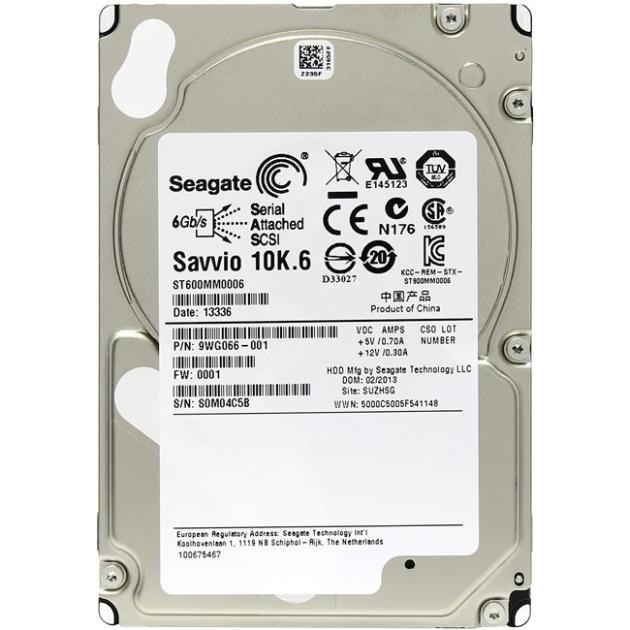 "Seagate ST600MM0006 600Гб, 600 Мб/с, 2.5"" HDD"