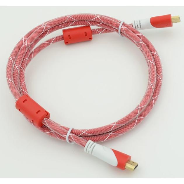 Кабель HDMI Ver.1.4 Red jack HDMI(19pin)/HDMI(19pin) (10м) феррит.кольца Позолоченные контакты