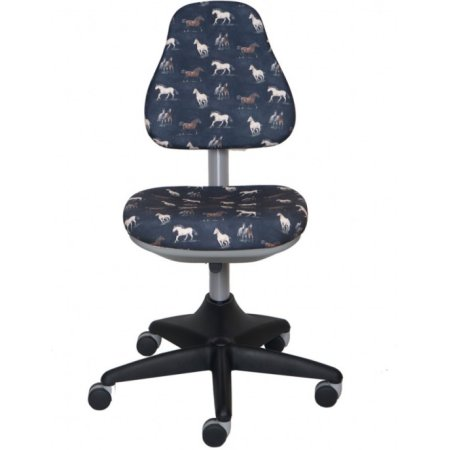Кресло детское Бюрократ KD-2/G/horse-gy серый лошади Horse-gy пластик серый