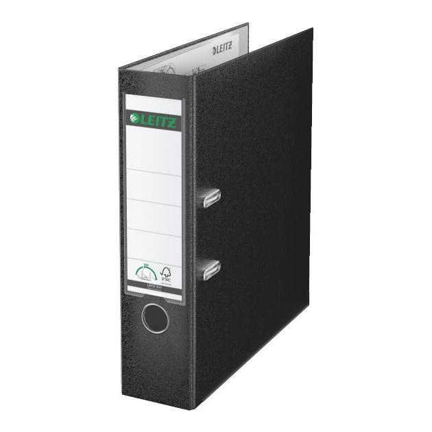 Папка-регистратор Esselte Leitz 10101295P A4 80мм Пластик черный